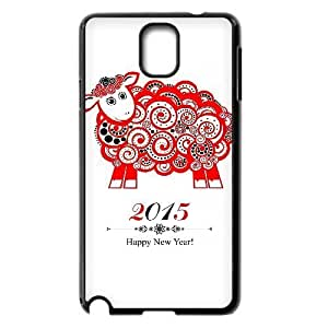 Happy New Year 2015 Design Unique Customized Hard Case Cover for Samsung Galaxy Note 3 N9000, Happy New Year 2015 Galaxy Note 3 N9000 Cover Case