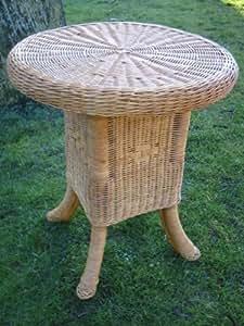 Mesa de ratán, mesa auxiliar de caña de rota (, 70cm