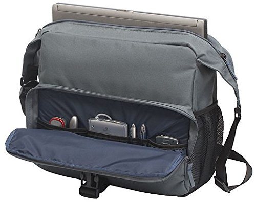 Targus Incognito Messenger Case Designed for 15.6 Inch Laptops TSM07003US Blue with Gray Accents