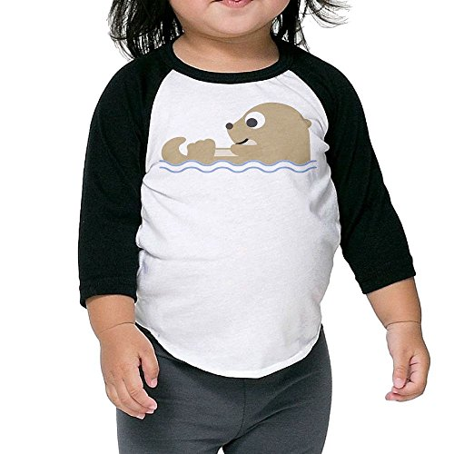 SH-rong Cute Otterly Toddler 3/4 Sleeve Tshirt Size4 Toddler ()