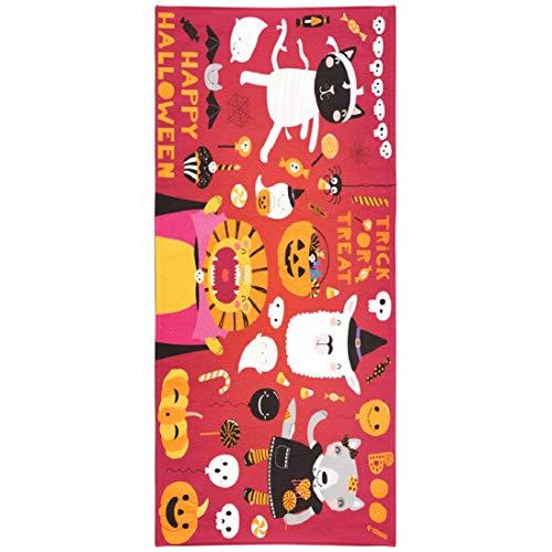KJONG Cute-Llama Blanket Microfiber Fast Dry Compact Kids Beach Towels Big Halloween with Cute Animals Lion Cat Llama Wolf Pumpkin Swimming Gym Camping Sunbath 30x60 Inch -
