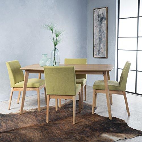 Katherine Green Tea Fabric/Natural Oak Finish 60