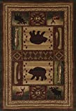 United Weavers of America Designer Contours Collection Bear Wilderness Rug, 7' 10'' by 10' 6'', Toffee