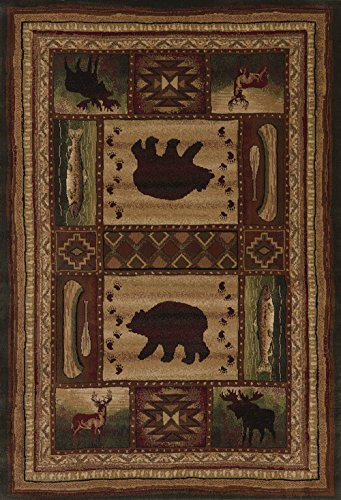 United Weavers of America Designer Contours Collection Bear Wilderness Rug, 7' 10'' by 10' 6'', Toffee by United Weavers of America