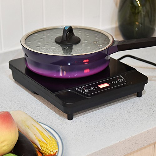 Costway 1800W Portable Electric Induction Cooktop Countertop Burner Digital Hot Plate for Kitchen,Dorms,Patios,Black (1) 1 Countertop