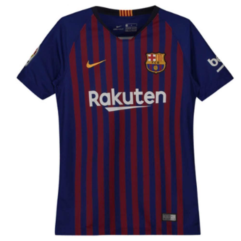 NIKE 2018-2019 Barcelona Home Vapor Match Football Soccer T-Shirt Jersey (Kids)