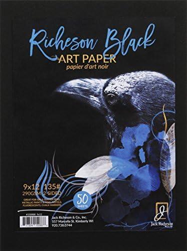 Jack Richeson ブラック 135# アートペーパー 9インチ x 12インチ 50インチ
