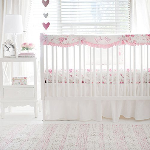 Nostalgic Rose Crib Rail Cover Baby Bedding Collection