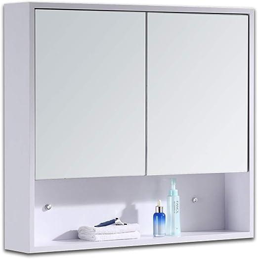 Armarios con espejo Mueble espejo de madera maciza Caja de espejo ...