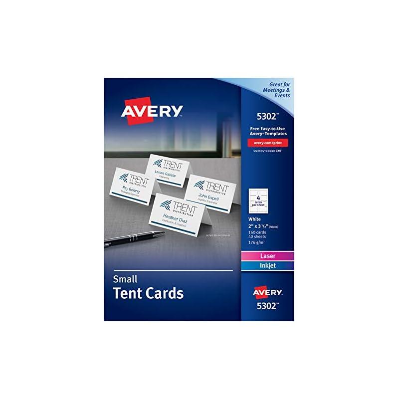 Avery Place Cards, Laser & Inkjet Printe