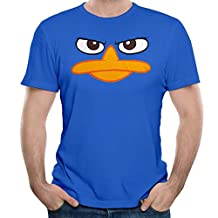 Anch Men's Perry Platypus - Face Phineas Ferb Short Sleeve Tshirt