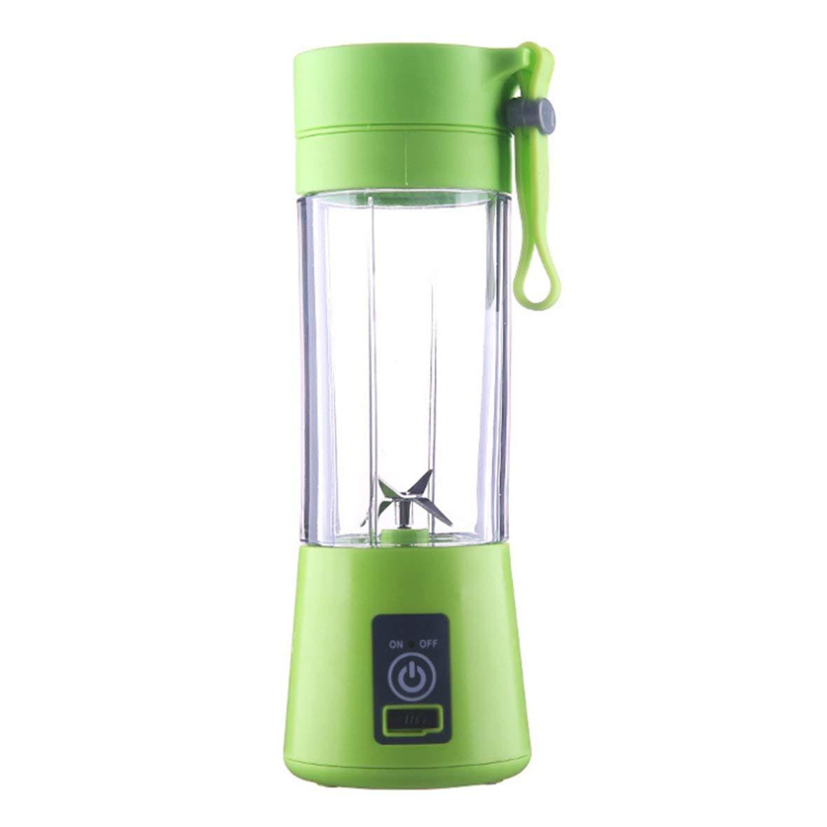 Color:Green Size:4 Blades 2//4 Blades Mini USB Rechargeable Portable Electric Fruit Juicer Smoothie Maker Blender Machine Sports Bottle Juicing Cup/&