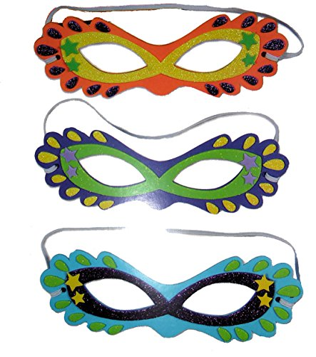 Halloween Masks Foam Craft Activity Kit Art Project Makes 12 -
