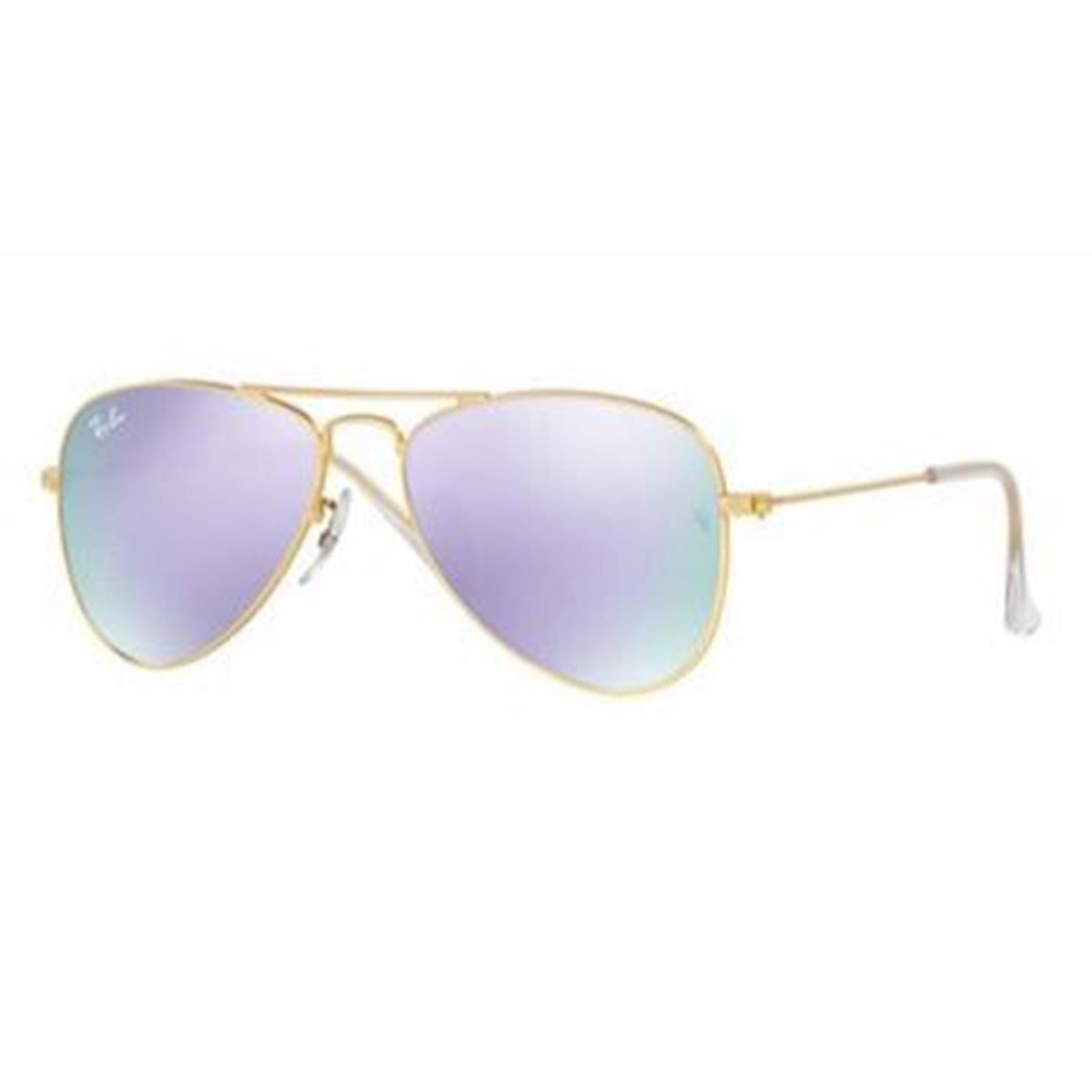0d8f2e3b762 Amazon.com  Ray-Ban Jr. Kids Aviator Kids Sunglasses (RJ9506) Gold  Matte Purple Metal - Non-Polarized - 50mm  Ray-Ban Junior  Clothing