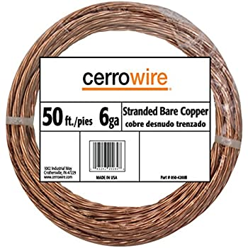 Southwire 10638502 315\' 6 Solid Bare Copper Cable - Electrical Wires ...