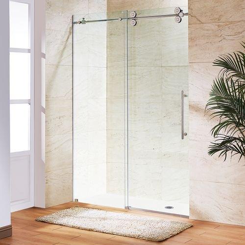 VIGO Elan 68 to 72-in. Frameless Sliding Shower Door  with .