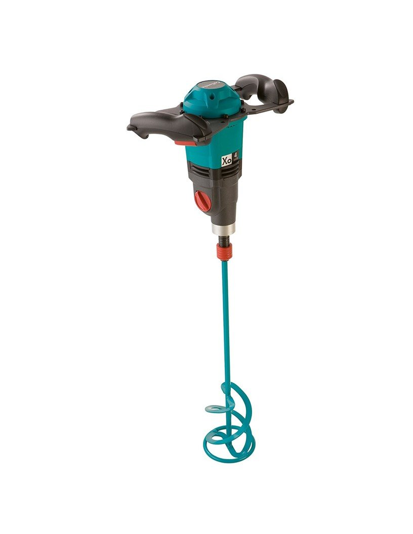 Collomix Xo4 Power Hand-Held Mixer with Quick Connect Mixing Paddle WK140HF, 2 Speed 0-450 RPM, 0-620 RPM, Variable Speed Motor, 1000W/ 110V/ 9.1A, 17 Gallon Mixing Volume