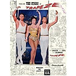 Trapeze Poster B 27x40 Burt Lancaster Tony Curtis Gina Lollobrigida