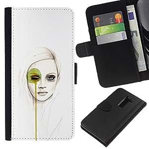 Stuss Case / Funda Carcasa PU de Cuero - Arte pop Mujer - LG G2 D800