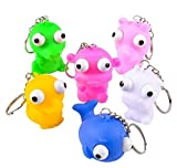 2.4'' SQUEEZE ANIMAL POPPING EYE KEYCHAIN, Case of 288