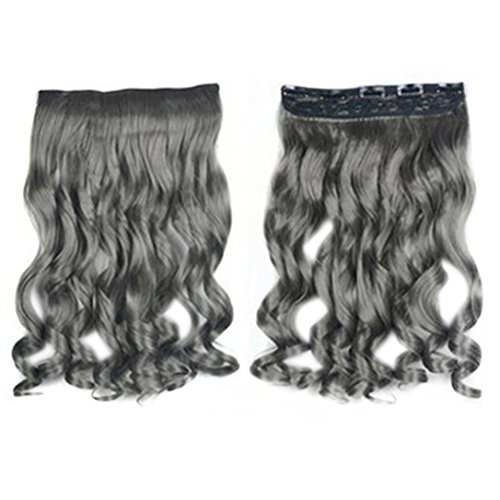 Halloween Costumes Trends 2016 (DEESEE(TM) Personalized Trends Grandma Gray Gradient Wig Curls Hair wig (D))