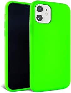 FELONY CASE – iPhone 12 and iPhone 12 Pro Case – Neon Green Silicone Phone Cover | Wireless Charging Compatible, 360° Shockproof Protective Case for Apple iPhone 12/12