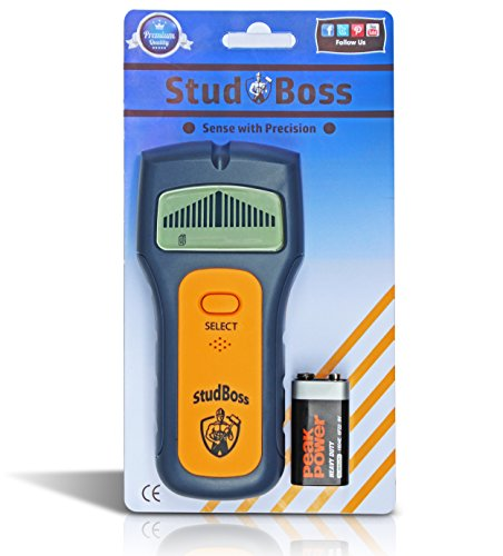 StudBoss Digital LCD Stud Finder – Easy To Use – Bonus Video Guide – 9 Volt Battery Included – Scanner for Wall Studs, Ac Wires and General Metals – DIY Essential Tool