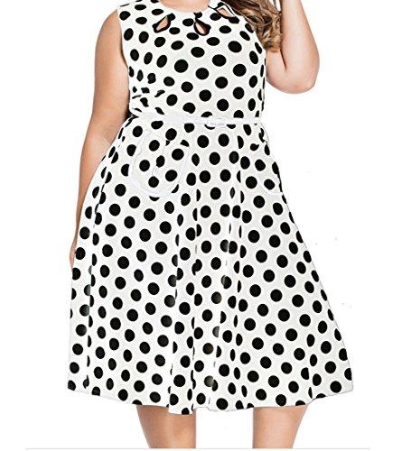 YeeATZ Polka Dot Bohemain Print Dress with (Nearest Burlington)