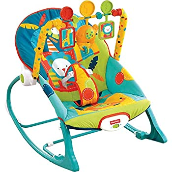 42a09cb70 Amazon.com : Fisher-Price Infant-to-Toddler Rocker, Bunny : Infant ...