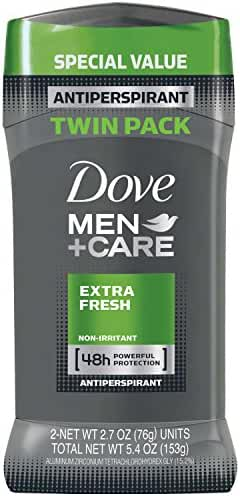 Dove Men+Care Extra Fresh Antiperspirant Stick, 2.7 oz, Twin Pack