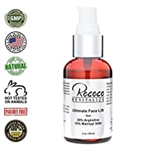 Ultimate Facelift 20% Argireline Peptide Serum with 10% Matrixyl 3000 Anti Aging Wrinkle Serum and Collagen Peptides - 60ml 2oz