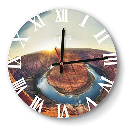 kokoaorotpuid Round Wall Clock Horseshoe Bay - Near Peggy Arizonalarge Wall Clock Silent Non-Ticking Classic Living Wall Clock Wood Acrylic Clock 12-Inch
