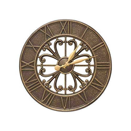 (Whitehall Villanova 21-in Indoor Outdoor Wall Clock (French Bronze) - 00580)