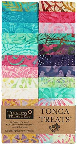 Tonga Treats Batiks Aruba Strip Jr 20 2.5-inch Strips Jelly Roll Timeless Treasures Fabrics