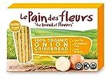 Le Pain Des Fleurs 100% Organic Crispbread, Onion, 4.4 Ounce