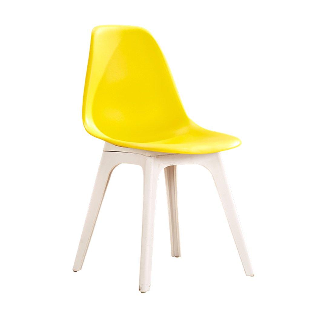 プラスチック屋外椅子防水軽量コンパクトシートスツールリビングルームの寝室の受付現代の家具 (色 : イエロー いえろ゜) B07DFVY554 イエロー いえろ゜ イエロー いえろ゜