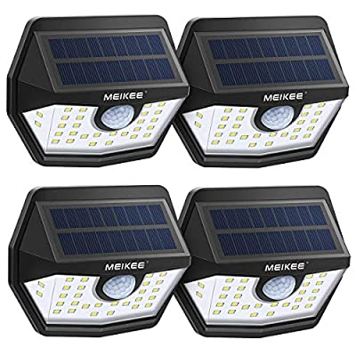 MEIKEE Solar Lights Outdoor, 30 LED Wireless IP65 Waterproof Motion Sensor Light,Easy to Install Solar Lights with 120° Wide Angle,LED Solar Lights Perfect for Patio,Yard,Garden,Garage(450 LM,4-Pack): Home Improvement