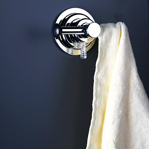 BOPai Large Suction Cup Sided Hooks - Strong Suction for Holder Towel Bathrobe Washrag Loofah Bag.Premium Chrome by BOPai (Image #1)