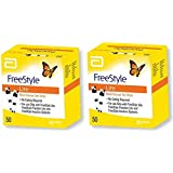 Freestyle Lite Blood Glucose Test Strips, 50 Strips (Pack of 2)