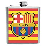 FC Barcelona Spain Football Soccer Club Stainless Steel Hip Flask 6oz Gift