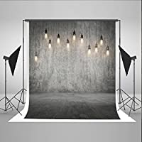 5x7ft Retro Photography Background Gray Chandelier Background Photography Studio Props no Wrinkles Washable