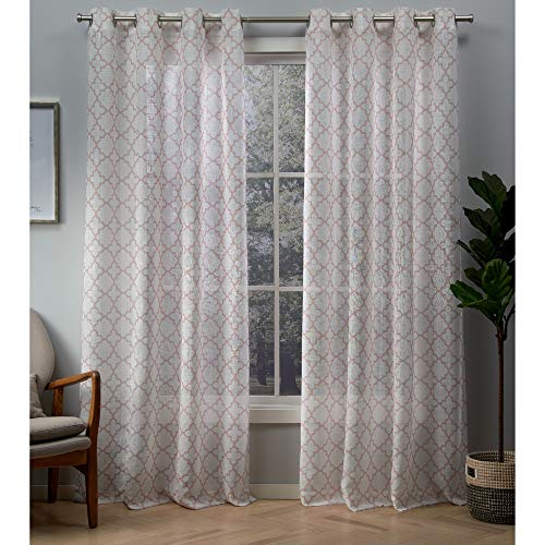 Exclusive Home Curtains Helena Panel Pair, 54x84, Blush ()