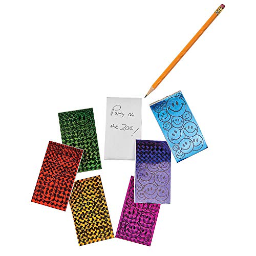 Fun Express - Smile Face Prism Notepads (6dz) - Stationery - Notepads - Notepads - 72 -