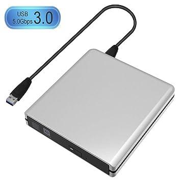 USB3.0 de unidad grabadora de DVD RW DVD/CD Slim externo portable portátil