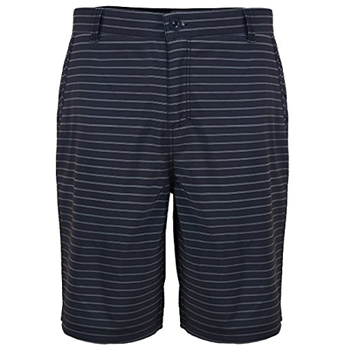 Spandex Striped Mens Shorts Casual Expandable Waist Workout Fashion Flat Front Office Pockets Pants (Shorts Striped Spandex)