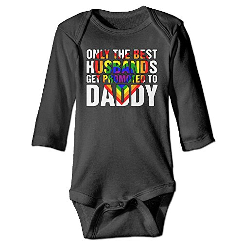 Only The Best Husband Get Promoted To Daddy Unisex Baby Comfortable Bodysuit Long Sleeves Romper Outfit Clothes (Long Sleeve Footlocker)