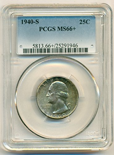 1940 S Washington Quarter MS66+ PCGS