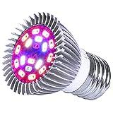 King-mini 9W LED Grow Light Blub Full Spectrum Plant Growing Lamp for Indoor Plant Growing Flowering E27 AC 85~265V
