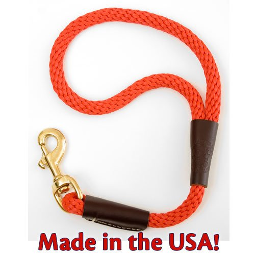 Mendota Products Traffic Lead Short Leash, 1/2 by 16-Inch, Red, My Pet Supplies