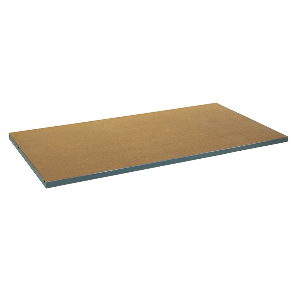 Edsal PW5301TA Tempered Pressed Wood on Steel Work Bench Top, 48'' Width x 1'' Height x 30'' Depth, Maple